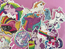 Load image into Gallery viewer, 30 pcs Large Unicorn Sticker Flakes - Waterproof
