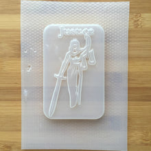 Load image into Gallery viewer, 6.5 oz Justice Tarot Card Plastic Mold