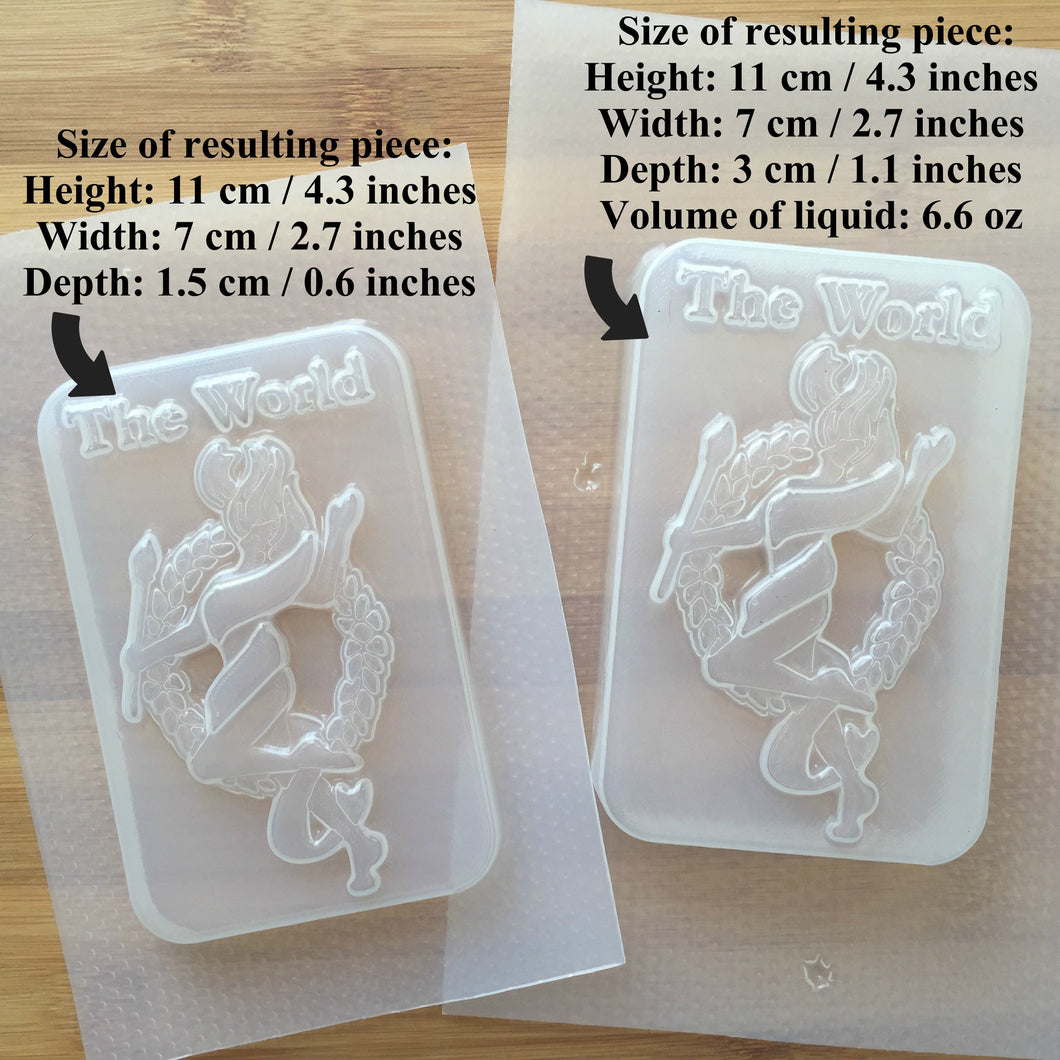 The World Tarot Card Plastic Mold