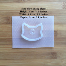 Load image into Gallery viewer, Moon Cat Shaker Plastic Mold