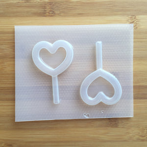 Heart Lollipop Shaker Plastic Mold
