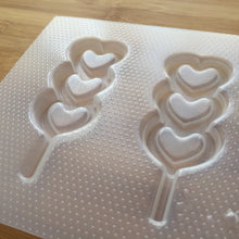 Load image into Gallery viewer, Triple Heart Lollipop Shaker Plastic Mold