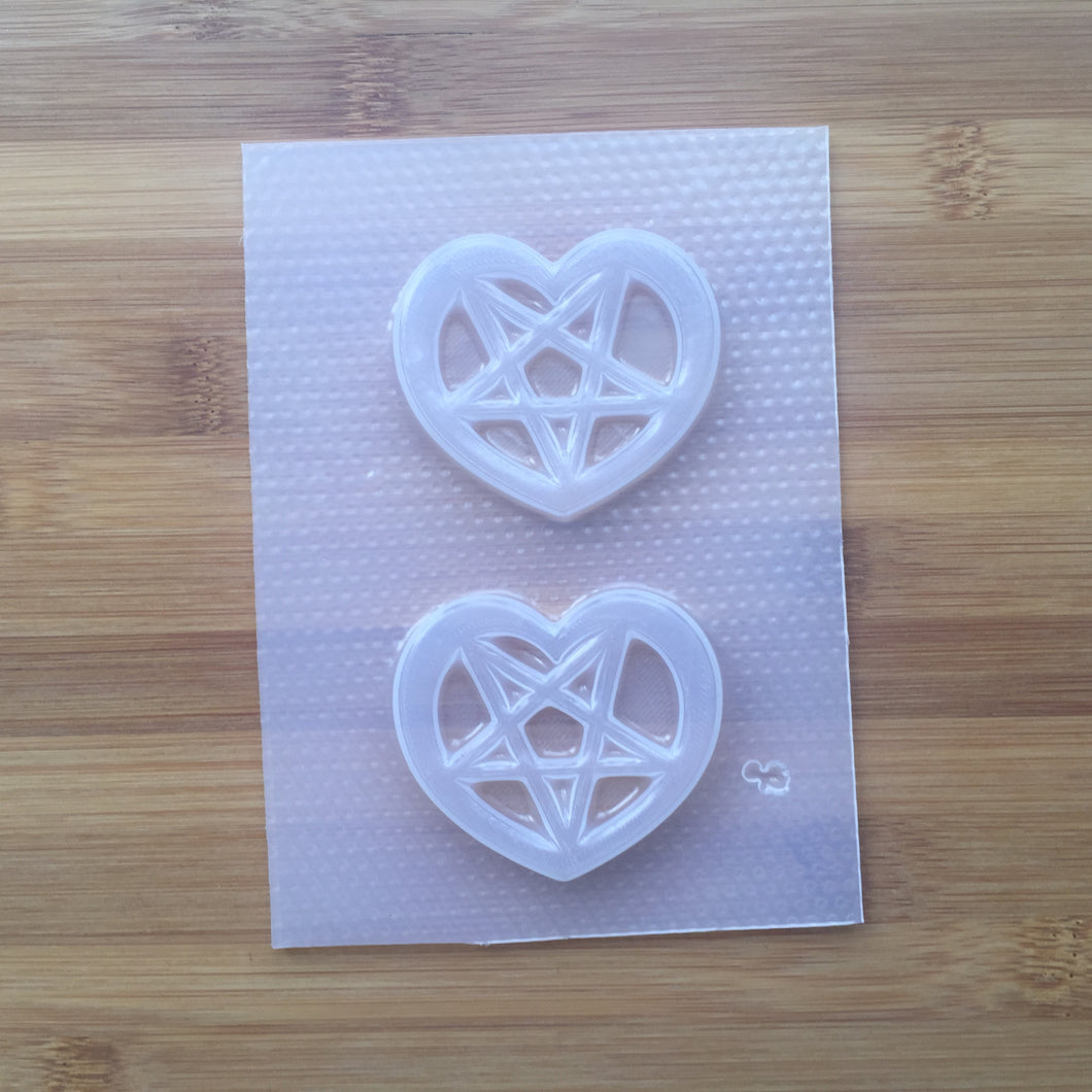 Heart Pentagram Plastic Mold