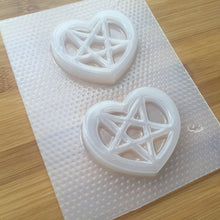 Load image into Gallery viewer, Heart Pentagram Plastic Mold