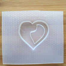 Load image into Gallery viewer, Dog Silhouette Heart Plastic Mold