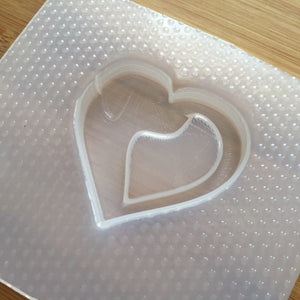Dog Silhouette Heart Plastic Mold