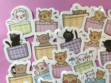 Load image into Gallery viewer, Cat in a Basket Sticker Flakes Box - 45 pieces