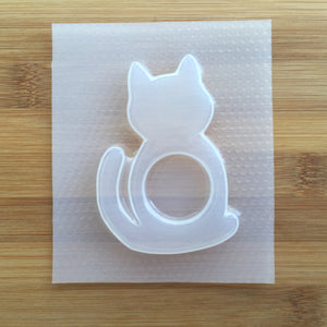 Cat Silhouette Plastic Mold - Shaker Options
