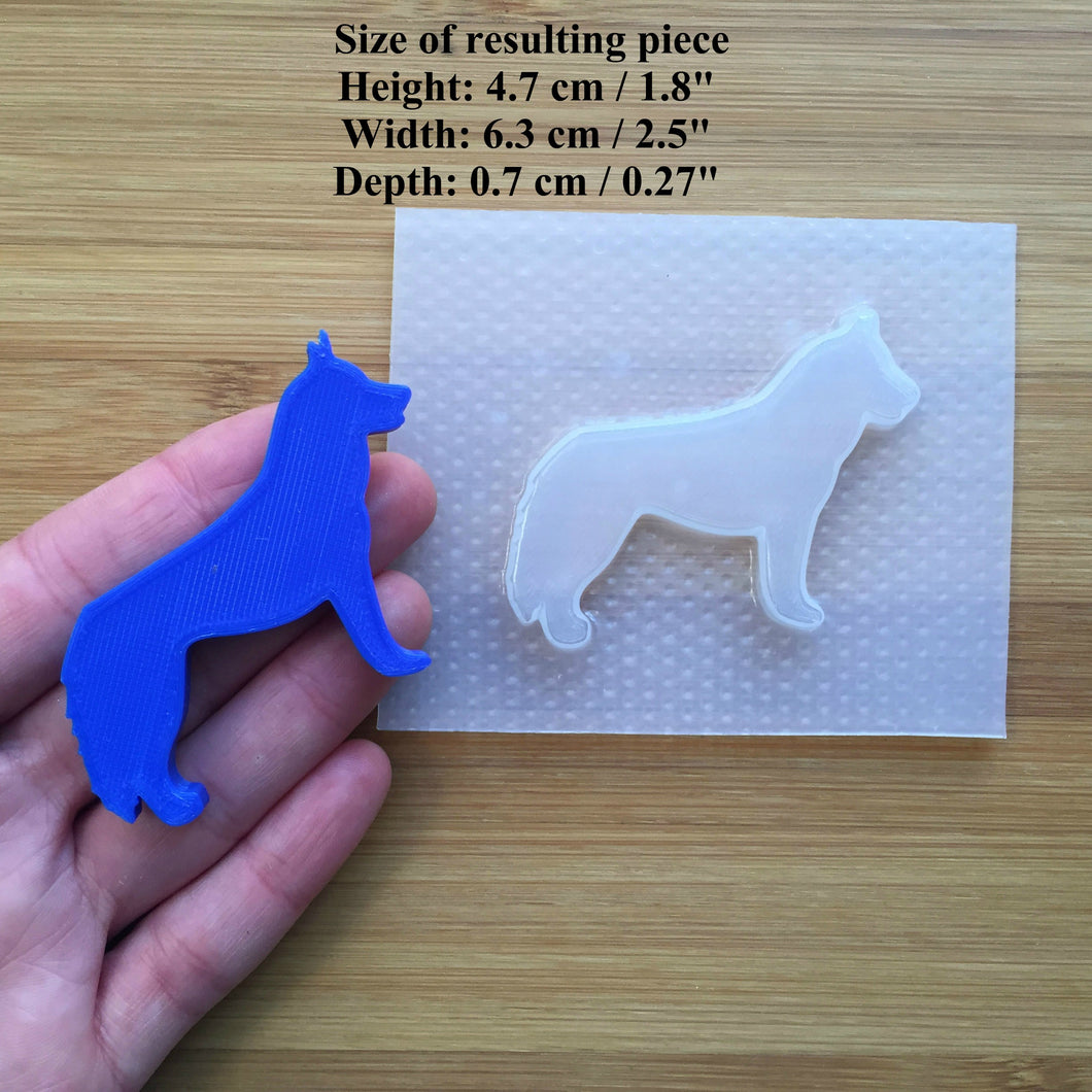 Husky Dog Plastic Mold - 3 designs to choose from