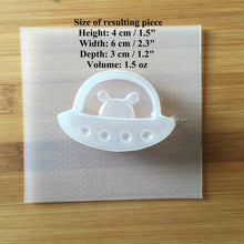 Load image into Gallery viewer, 1.5 oz Alien UFO Plastic Mold - DEEP version