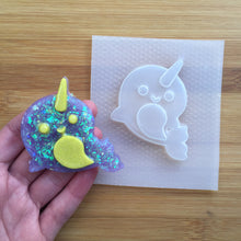 Load image into Gallery viewer, Kawaii Narwhal Plastic Mold