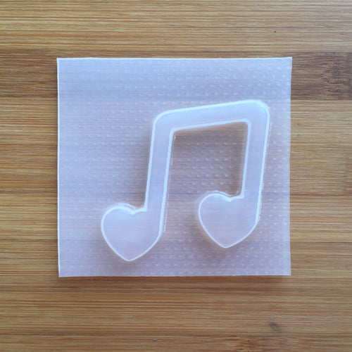 Heart Music Note Plastic Mold