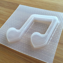 Load image into Gallery viewer, Heart Music Note Plastic Mold