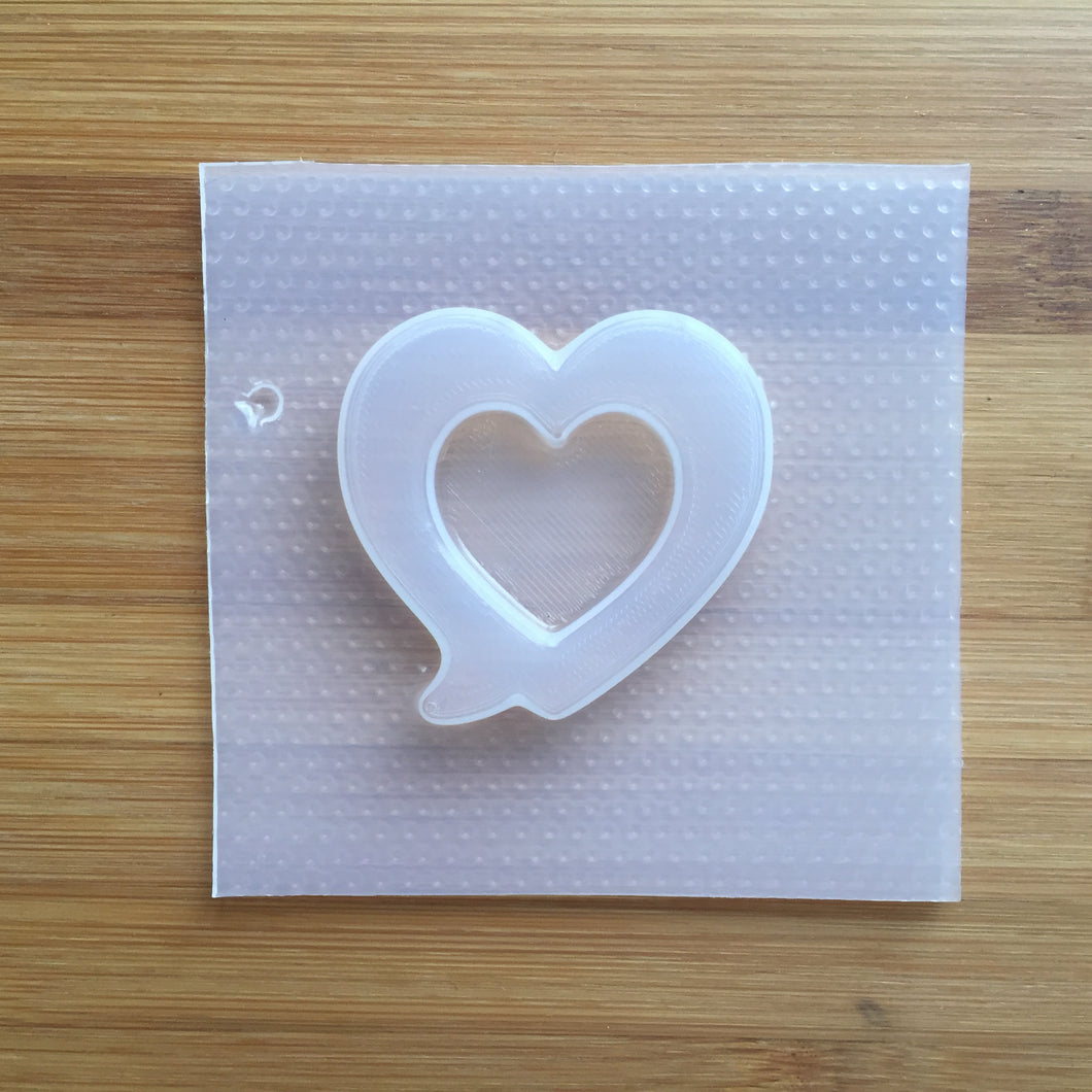 Heart Speech Bubble Shaker Plastic Mold