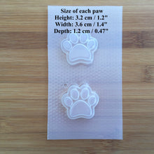 Load image into Gallery viewer, Small Paw Prints Plastic Mold