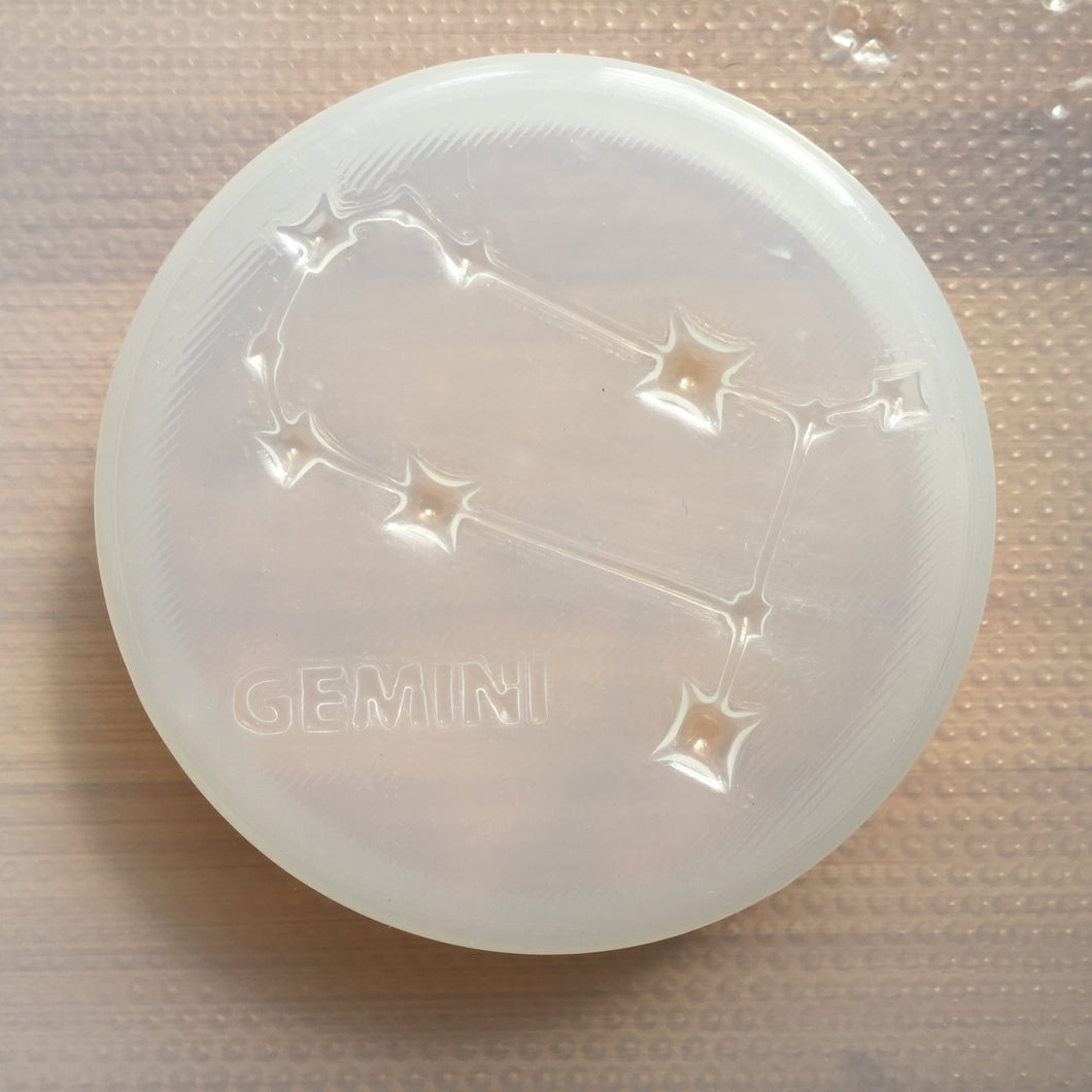 4oz Gemini Constellation Sign Plastic Mold