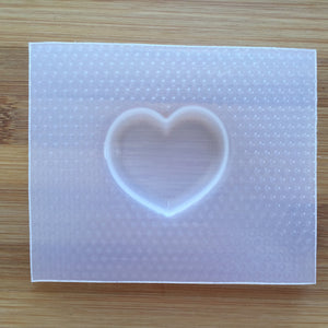 Small Puffy Heart Plastic Mold - choose from 1 / 2 / 9 cavities options