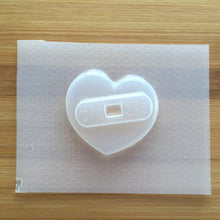 Load image into Gallery viewer, 2 inch Bandaged Heart Plastic Mold