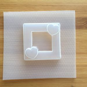 2 inch Hearts Square Frame Plastic Mold (Resin Shaker Mold)