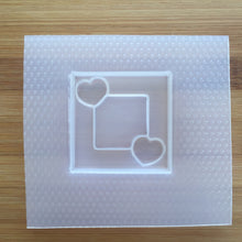 Load image into Gallery viewer, 2 inch Hearts Square Frame Plastic Mold (Resin Shaker Mold)
