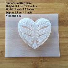 Load image into Gallery viewer, 4oz Heart Rib Cage Plastic Mold