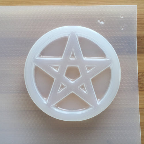 3.8 oz Pentacle Circle Plastic Mold