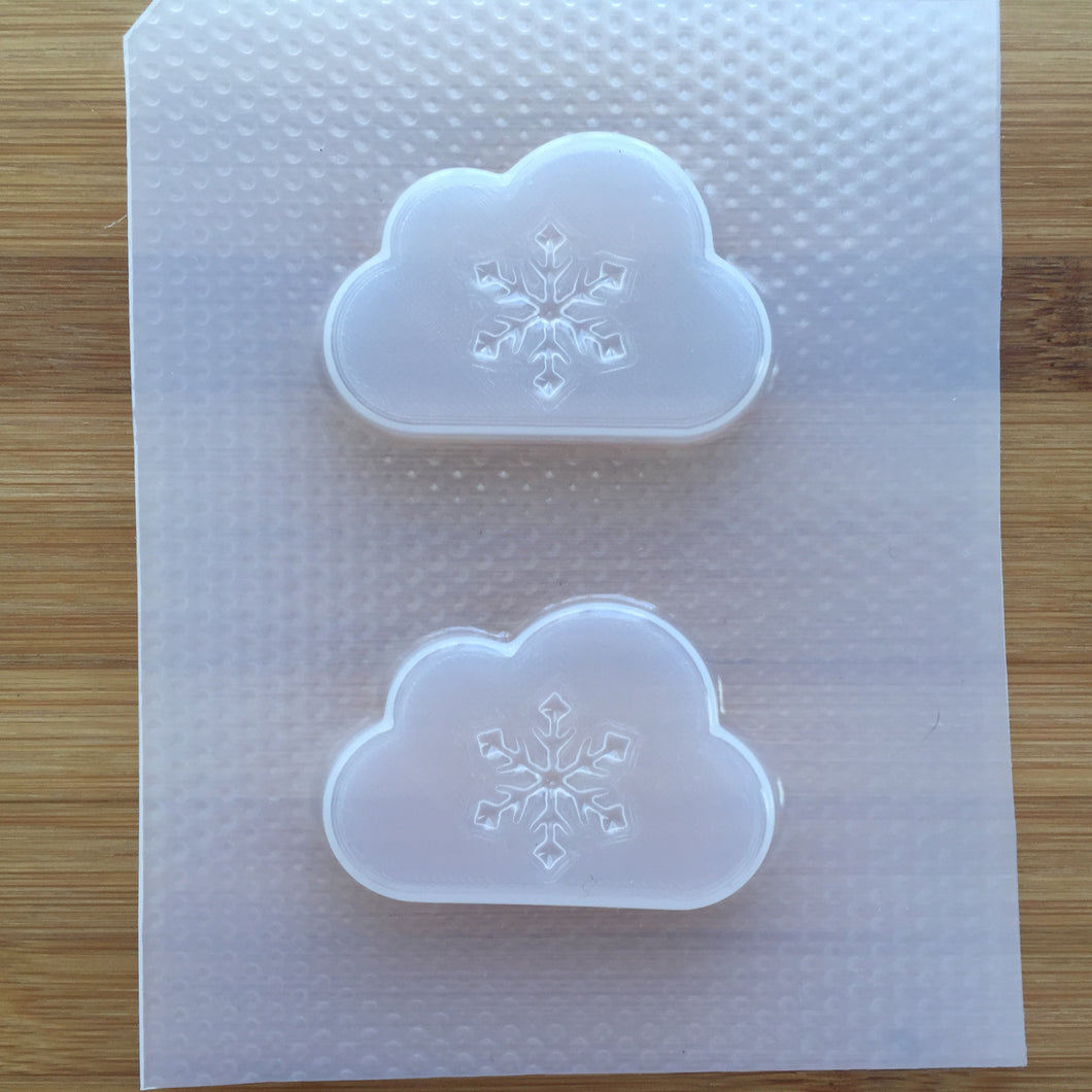 2 inch Snowflake Cloud Plastic Mold