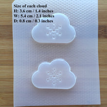 Load image into Gallery viewer, 2 inch Snowflake Cloud Plastic Mold