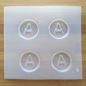 Letter A Badge Plastic Mold - Upper case - Circle