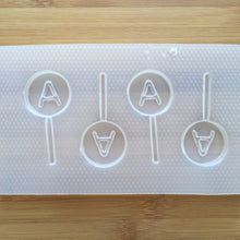 Load image into Gallery viewer, Letter A Lollipop Plastic Mold - Upper case - Circle
