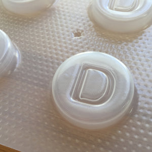 Letter D Badge Plastic Mold - Upper case - Circle