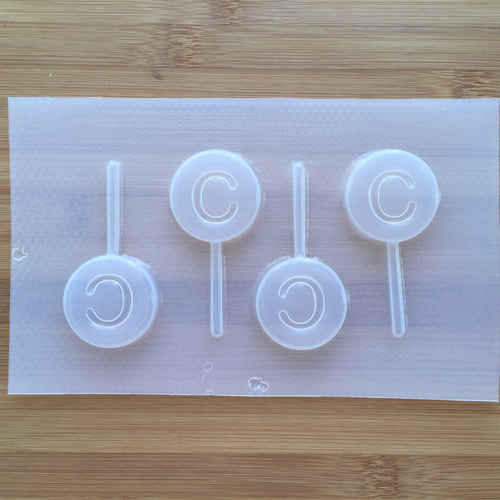 Letter C Lollipop Plastic Mold - Upper case - Circle