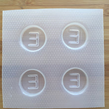 Load image into Gallery viewer, Letter E Badge Plastic Mold - Upper case - Circle