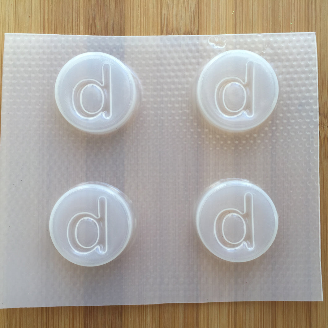 Letter d Badge Plastic Mold - Lower case - Circle