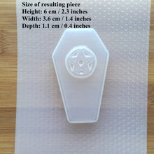 Load image into Gallery viewer, Pentagram Coffin Plastic Mold