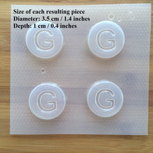 Load image into Gallery viewer, Letter G Badge Plastic Mold - Upper case - Circle