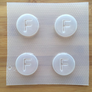 Letter F Badge Plastic Mold - Upper case - Circle