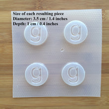 Load image into Gallery viewer, Letter g Badge Plastic Mold - Lower case - Circle