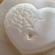 Load image into Gallery viewer, Cobwebbed Heart Plastic Mold