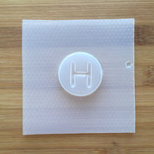 Load image into Gallery viewer, Letter H Badge Plastic Mold - Upper case - Circle