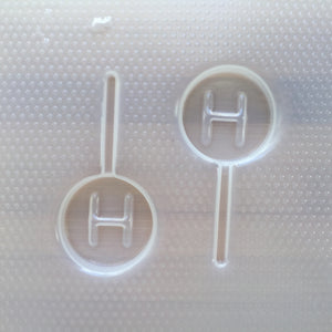 Letter H Lollipop Plastic Mold
