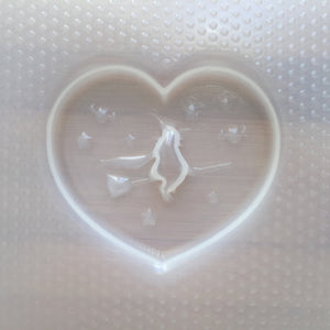 Flying Witch Heart Plastic Mold