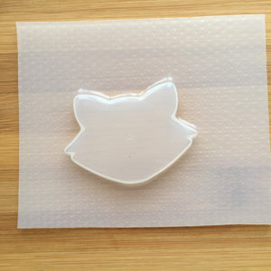 Raccoon Head Silhouette Plastic Mold