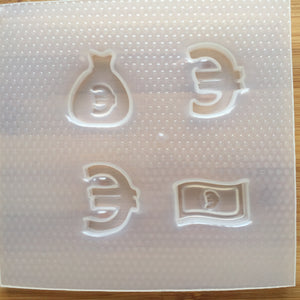 Euro Money Plastic Mold - choose from 2 sizes
