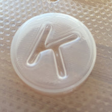 Load image into Gallery viewer, Letter K Plastic Mold - Upper Case Alphabet