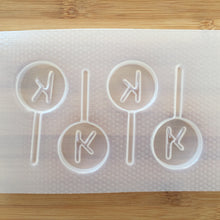 Load image into Gallery viewer, Letter k lollipop Plastic Mold