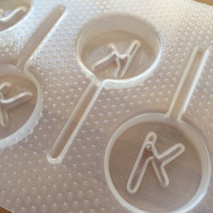 Letter k lollipop Plastic Mold