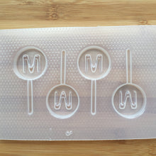 Load image into Gallery viewer, Letter M Lollipop Plastic Mold