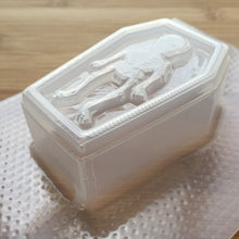 Load image into Gallery viewer, Skeleton Coffin Plastic Mold - choose from 2 sizes