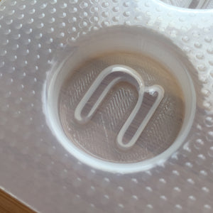 Letter n Plastic Mold - Lower case - Circle